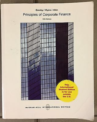 PRINCIPLES OF CORPORATE FINANCE - 12th EDITION - BREALEY, MYERS,ALLEN [MV1/24]