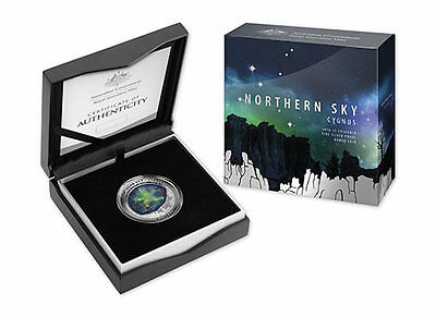 2016 $5 Coloured Fine Silver Proof Domed Coin - Northern Sky - Cygnus