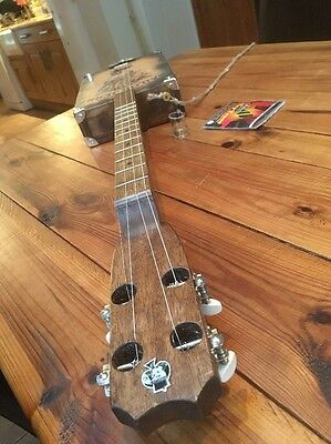 4 String,  Fretted/slide, Hollow Body cigarbox style guitar