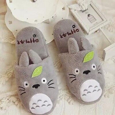 My Neighbor Totoro;Slippers Adults Cute Soft Plush home shoes Half slippers