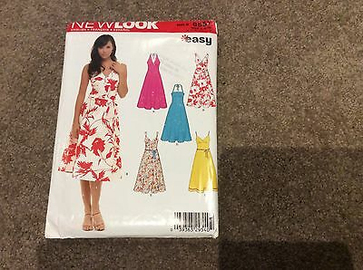 NEWLOOK EASY SIZE 8 10 12 14 16 18 SUN DRESS HALTER NECK uncut  SEW PATTERN