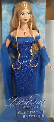 BARBIE BIRTHSTONE SEPTEMBER NRFB - model muse doll collection collezione Mattel