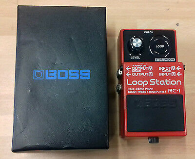 Boss RC1 Loop Station guitar pedal, well used, in box, no manual