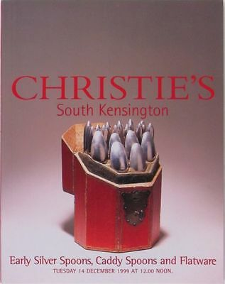 Antique English Silver Spoons & Caddy Spoons - 1999 Christie's Auction Catalog