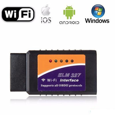 ELM327 OBD2 Car Diagnostic Scanner CAN-BUS Bluetooth/WiFi for iPhone ANDROID FJN