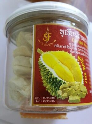 Freeze Dried Durian Fruit Fresh Best Snack Taste Sweet 60 gms Thailand Product