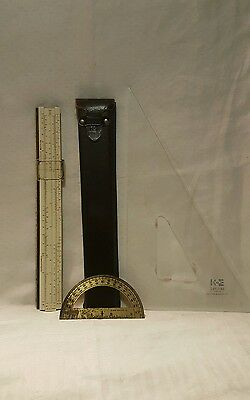 Keuffel & Esser K&E Dietzgen PolyPhase Ruler, Protractor, Drafting Triangle Lot