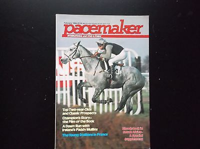 Pacemaker Magazine Feb. 1984 Desert Orchid & Colin Brown On Cover