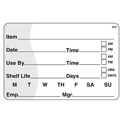 """DayMark IT110342 MoveMark Shelf Life/Use By Removable Label, 2"""" x 3"""" Roll of 500"""