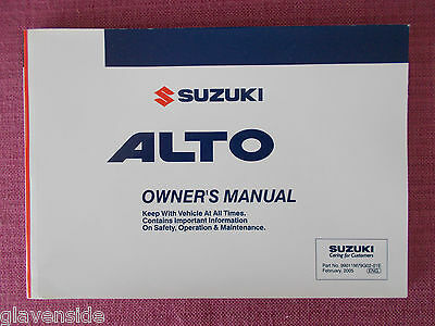Suzuki Alto (2003 - 2006) Owners Manual - Owners Guide - Handbook (Suz 158)
