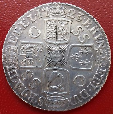 1723 Ssc Shilling. Very Fine Or Better. George 1 British Milled Coins.