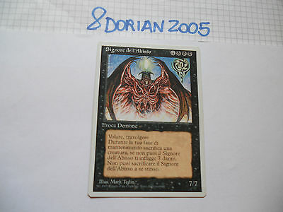 1x MTG Signore dell'Abisso-Lord of the Pit Magic EDH ITA-ING 4th-5th Ed Base x1