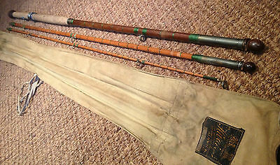 c1936 HARDY THE MASTERPIECE GREENHEART & SPLIT CANE PIKE, SALMON, FISHING ROD