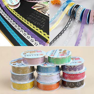 Washi Self Adhesive Paper Roll Lace Tape Sticky Crafts