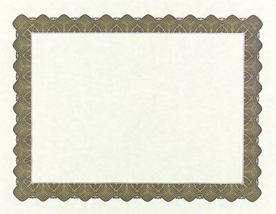"Great Papers! Metallic Gold Border Certificate, 8.5""x 11"", 100 Count 934000"
