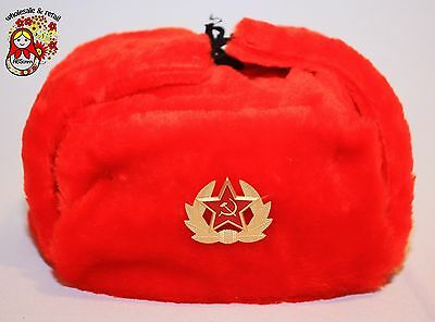 Memorable souvenir. Ushanka with Red Star. Red. Russian.  %С-41а