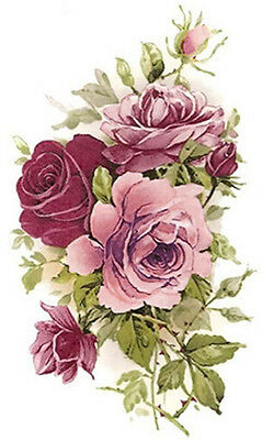XL SHaBbY PinK TeA RoSeS WaTerSLiDe DeCALs ~FurNiTuRe Size~