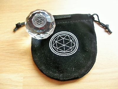 Official Crystal Maze Crystal & Pouch.Games,TV,Spheres,Desk Top,PaperWeight,Art.