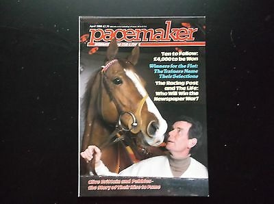 Pacemaker Magazine April 1986  Pebbles & Clive Brittain On Cover
