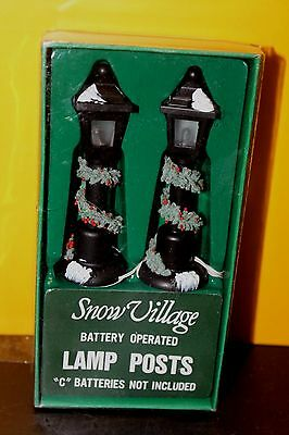 Dept 56 Snow Village Lamp Posts - New