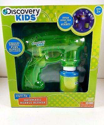 Discovery Kids Light UP Automatic Bubble Blower Green New in Box