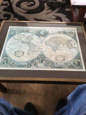 Stunning Map Of The World Table