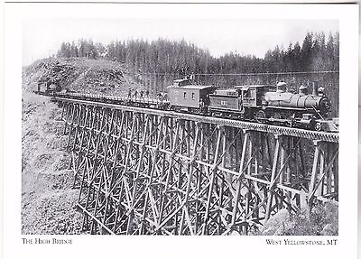 "*Postcard-""The High Bridge"" /North of Reas Pass/ *W Yellowstone, MT (#273)"