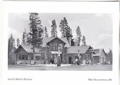 "*Postcard-""Lorey's Service Station"" (N Side/Eagle) *W Yellowstone MT (#273)"
