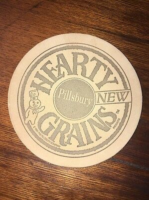 Vintage Pillsbury Company Hearty Grains  Leather Coaster Mint Condition 1991