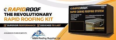 RAPIDROOF LIQUID ROOFING SYSTEM / FLAT ROOF / 10m2 & 20m2 KITS