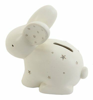 Neutral Colored Resin Rabbit Shaped Child Money Bank By Haysom Interiors