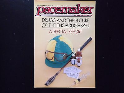 Pacemaker Magazine Aug.1987  Drugs In Racing On Cover