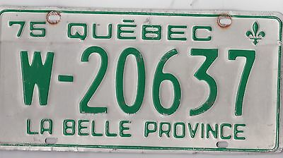 ����☀️☀️ �� �� Authentic Canada 1975 Quebec License Plate.  Loader W-20637