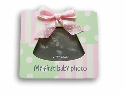 White and Blue Baby Sonogram Frame - My First Baby Photo - 5 x 5.5