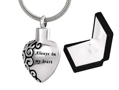 Cremation Ashes Jewellery Urn small memorial Keepsake Necklace Ash Pendant Heart