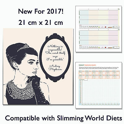 Diet Food Diary Slimming World Compatible Any Diet Planner Tracker Book Audrey