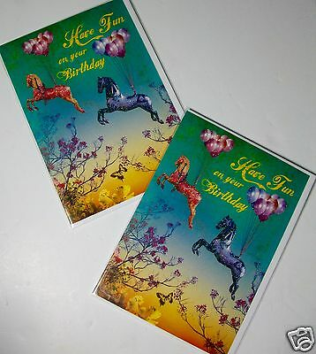 BIRTHDAY CARDS x12, JUST 26p, 'TWICE AS NICE' BRAND, GLITTER, WRAPPED (G23