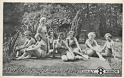 Printed Postcard. Beautiful Ladies compliments of Daily Mail.