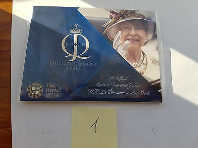 2012 Royal Mint British Queens Diamond Jubilee BU £5 Five Pound Coin Pack