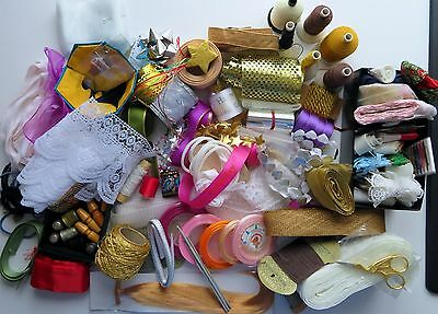 An interesting mixed lot of Embroidery or Craft items