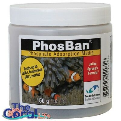 TWO LITTLE FISHIES PHOSBAN 150g PHOSPHATE ADSORPTION MEDIA
