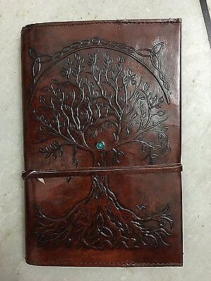 Refillable Leather Journal Writing Notebook, Antique Handmade Leather Bound For