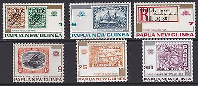 Papua New Guinea 1973 stamps on stamps complete mint set sg260-265