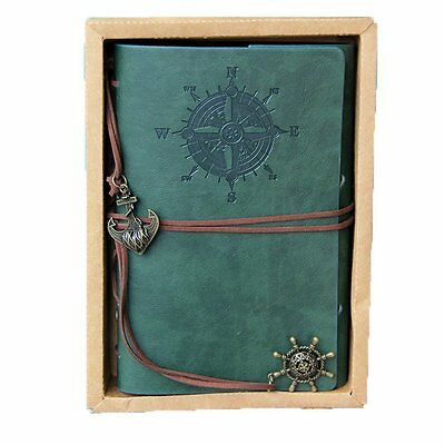 Vintage Leather Journal Notebook Classic Retro Spiral Ring Binder Diary Book-