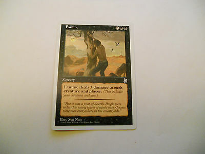 1x MTG Famine Magic EDH Portal Three Kingdoms P3K ING Inglese x1