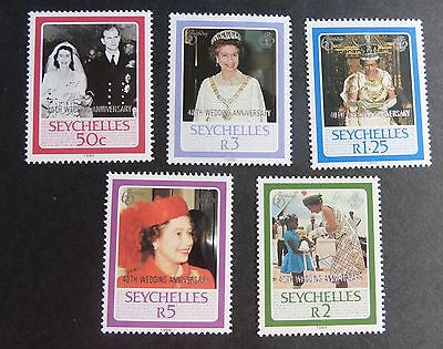 Seychelles 1987 Queen's 40th Wedding Anniversary MS MNH UM unmounted mint