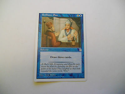 1x MTG Brillant Plan Magic EDH Porta Three Kingdoms P3K ING Inglese Legacy x1
