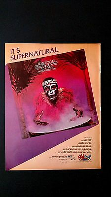 """Instant Funk  """"witch Doctor """" Rare Original Print Promo Poster Ad"""