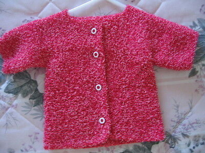 red cardigan,baby,infant,knitted,acrylic,buttons,machine wash&dry,handmade