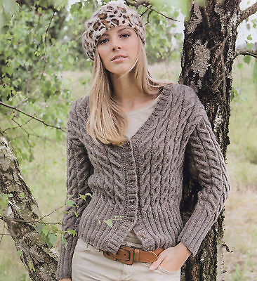 Knitting Pattern- Ladies DK Cable Cardigan pattern- see description